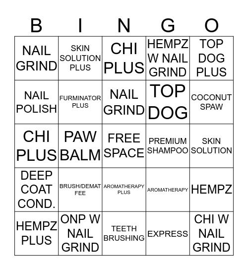 ADD ONS!!!! Bingo Card