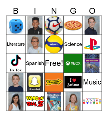 MNCS 7th Grade Bingo Card