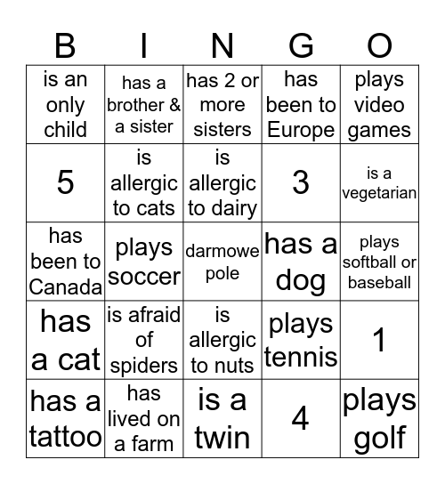 ROOM 56 BINGO Card
