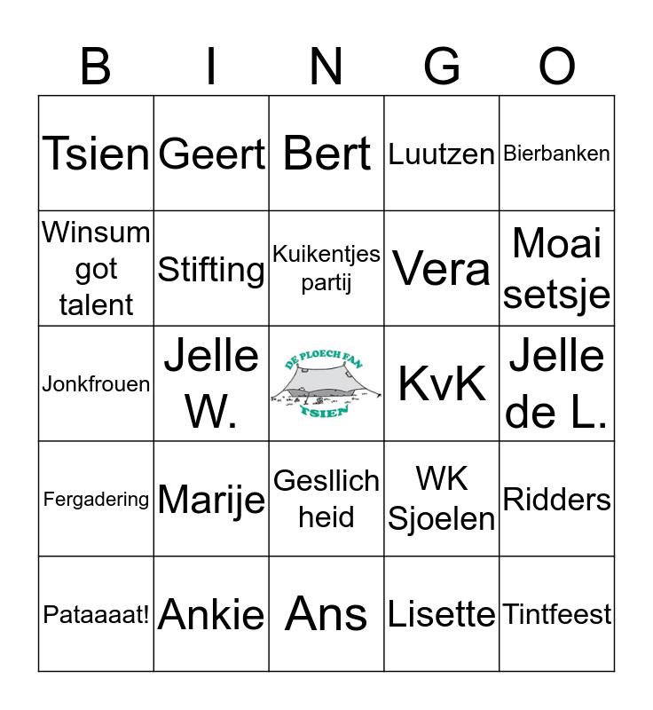 Bingo fan De Ploech fan Bingo Card