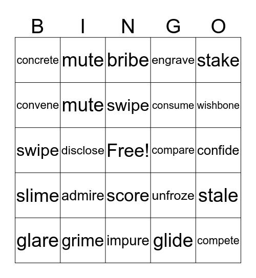 Wilson Book 4 Review Bingo Card
