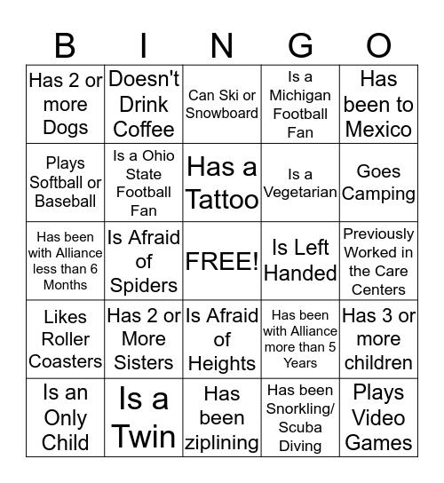 Did You Know??? Bingo Card