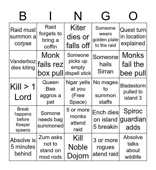 Sky Bingo Version 3 Bingo Card