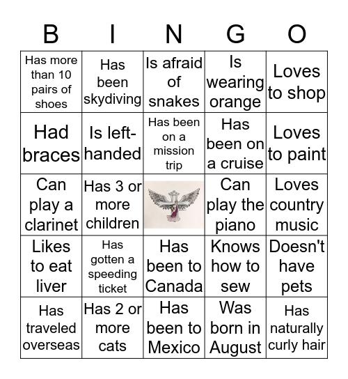 Bingo Icebreaker Bingo Card