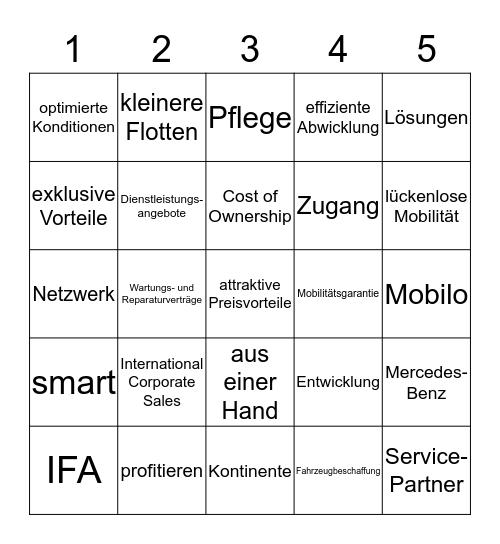 - FLEET BINGO - Bingo Card
