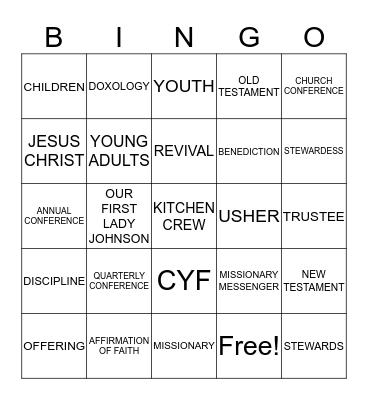GOOD HOPE CME BINGO FUN Bingo Card