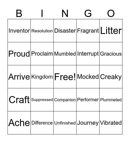 Star Bingo Card