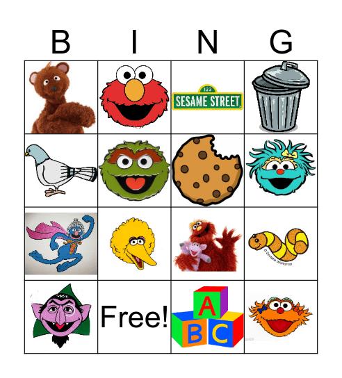 Sesame Street Bingo Card