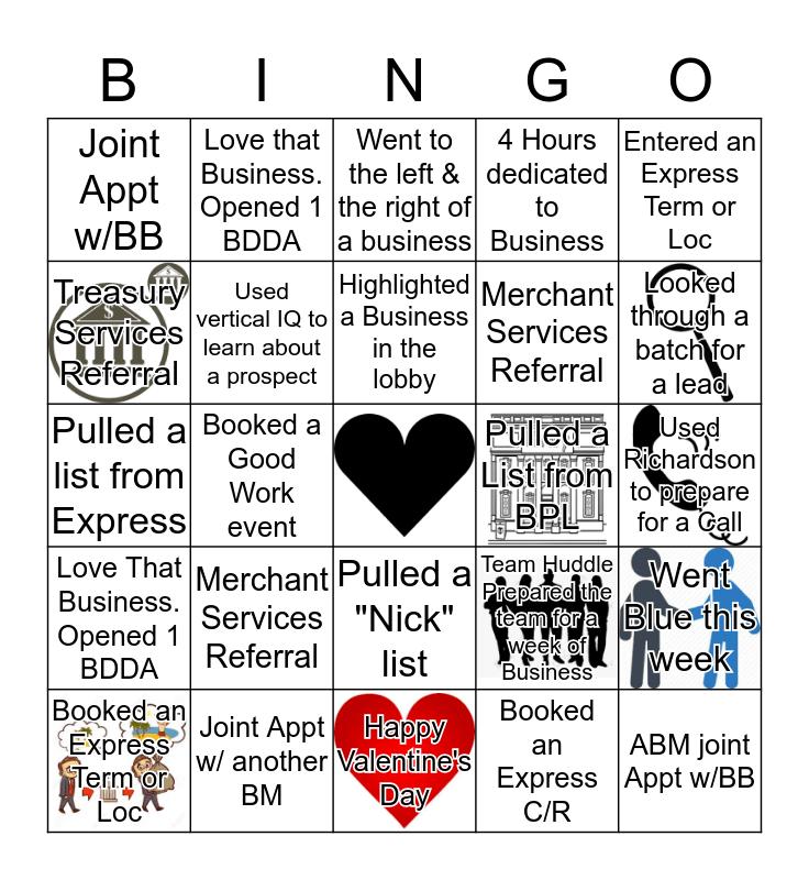 Business Bingo Card