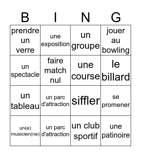 AT Bingo Card