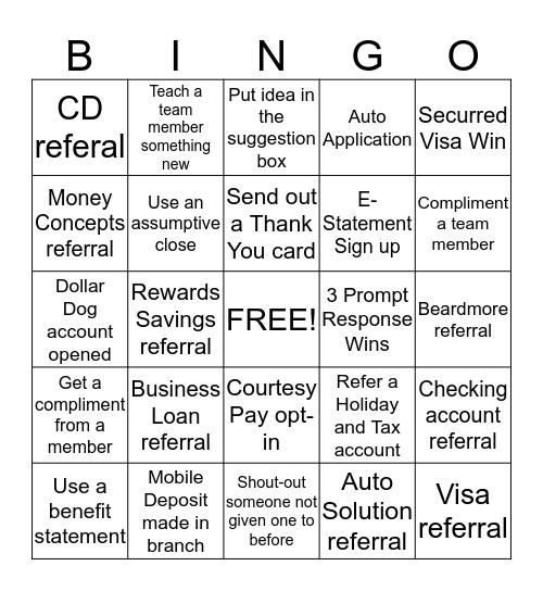 Rivermark Bingo - Teller Bingo Card