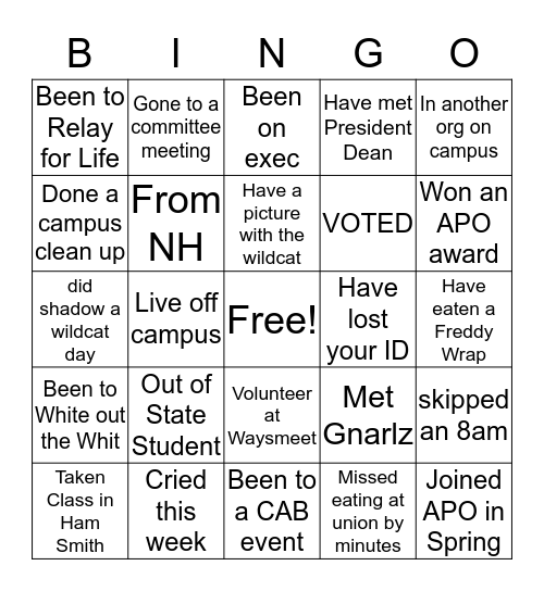 Bro's4Bros BINGO! Bingo Card