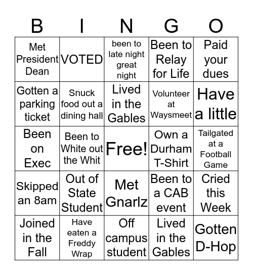 Bro's 4 Bro's Bingo! Bingo Card