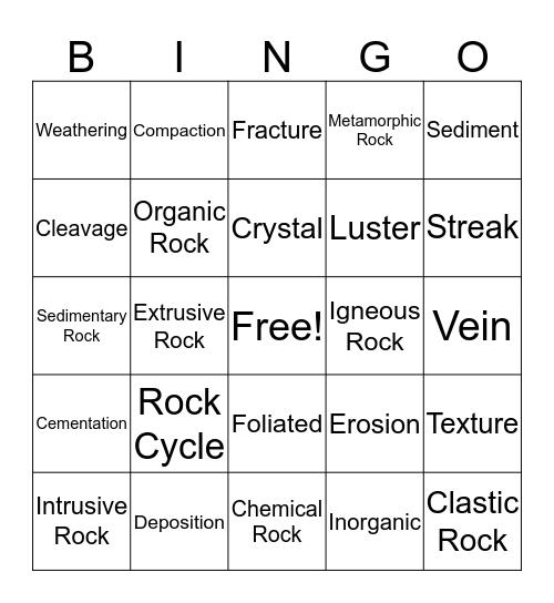 Chapter 2 Test Bingo Card