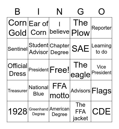 FFA Bingo Card