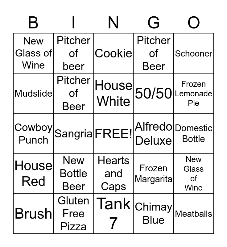 Hideaway Bingo Card