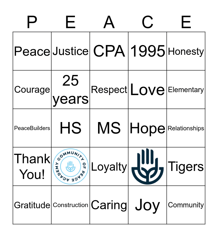 Teacher Appreciation Week Bingo Card