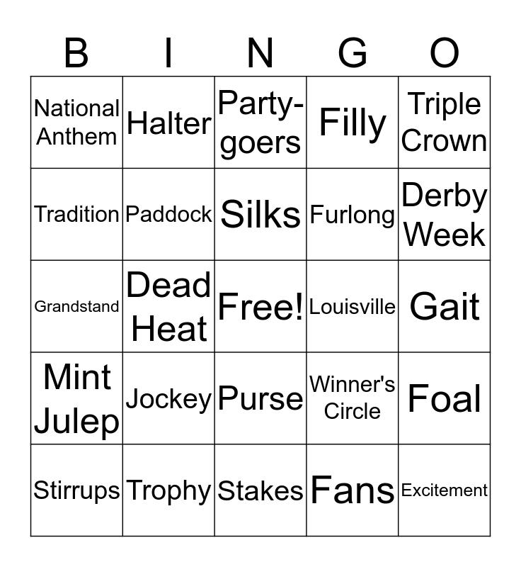 Derby Bingo Card