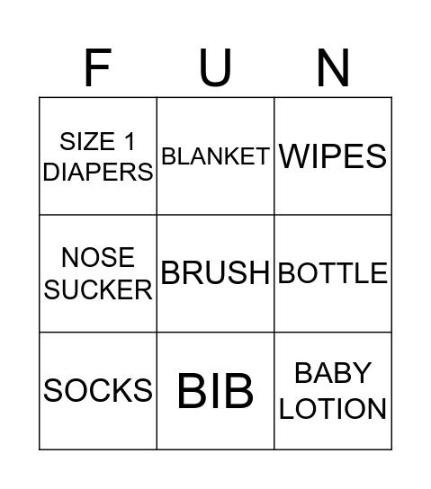 WELCOME BABY LUKA Bingo Card