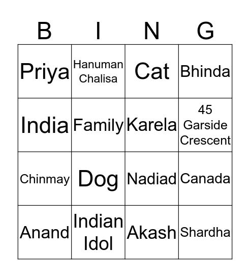 Nita's Golden 50 Bingo Card