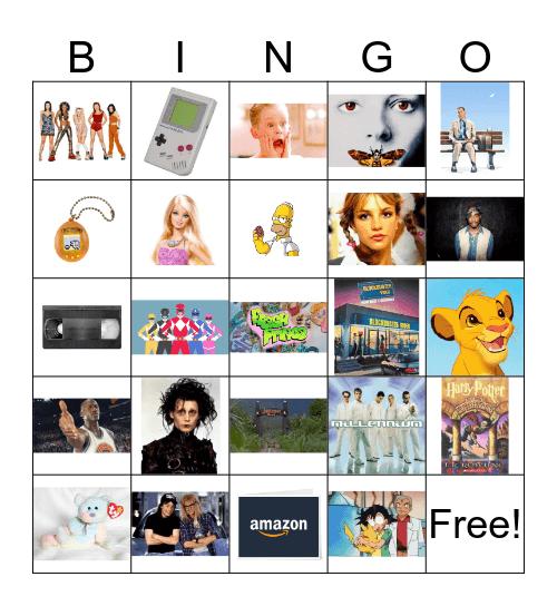90's Throwback Bingo Card