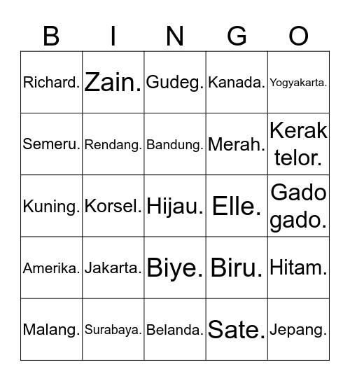 Adnan. Bingo Card