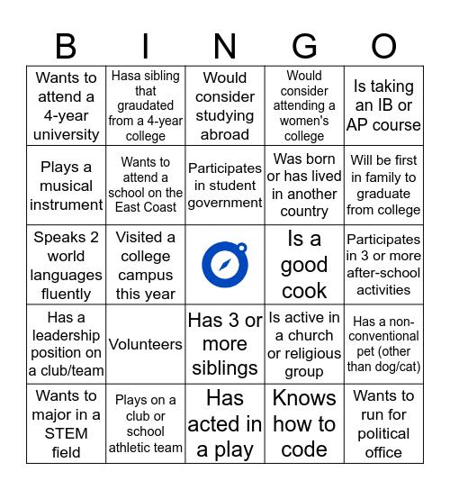 STEP Icebreaker Bingo Card
