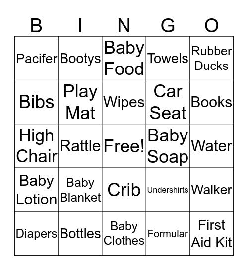 Khiyus Baby Shower  Bingo Card