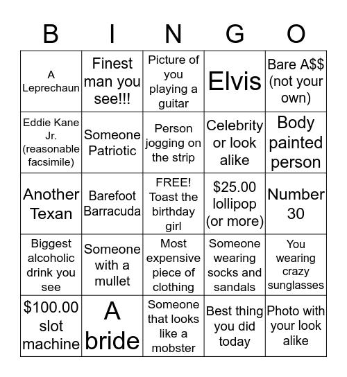 ***Shekia's Birthday Bingo*** Bingo Card
