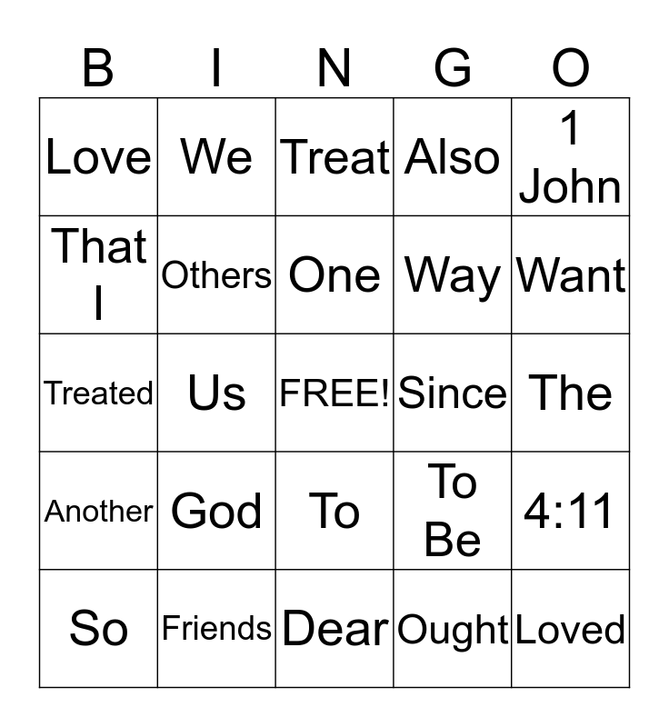 UpStreet Bingo Card