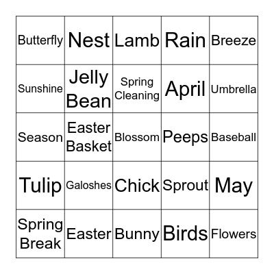 Spring Bingo Card