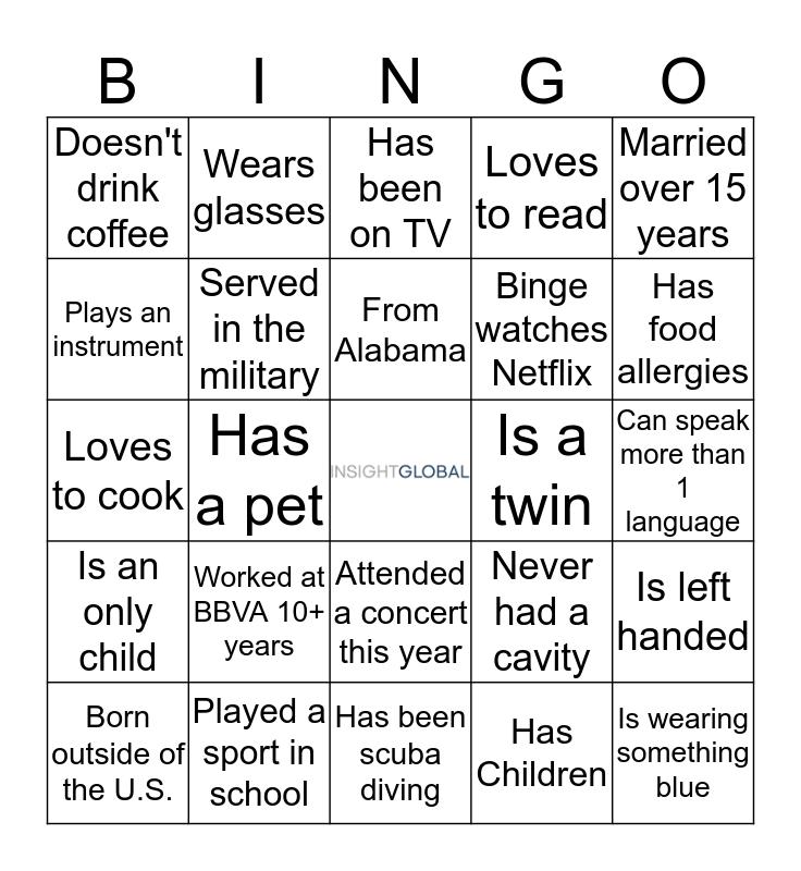 Get to Know Your Neighbor Bingo Card
