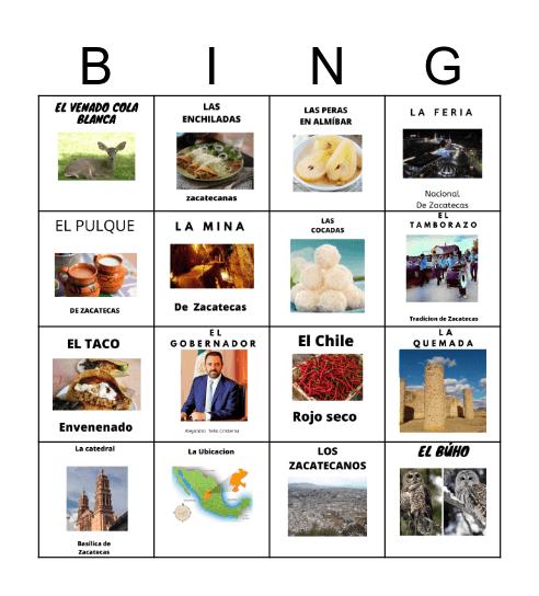 Carmen Bingo Card