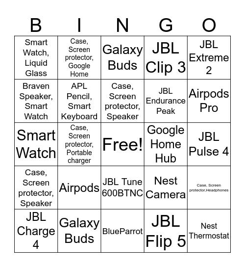 SPRINGO Bingo Card