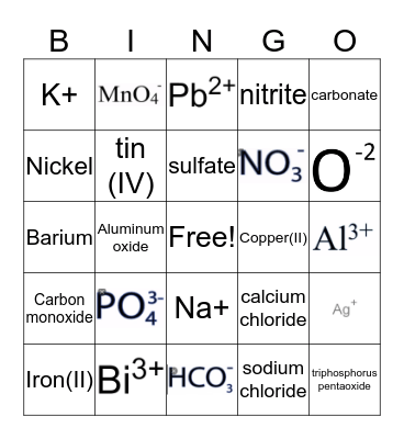 Chemistry Bonding Bingo Card