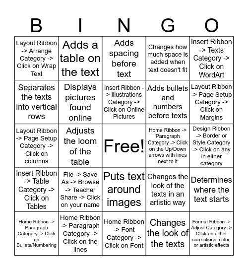 Word Review Bingo - Nate H. Bingo Card