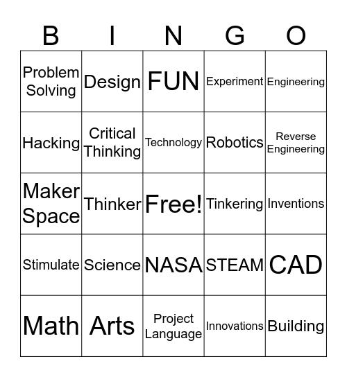 STEM Bingo Card