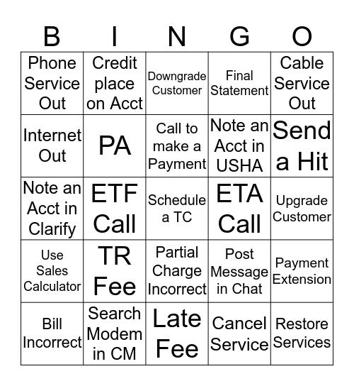 Warriors Bingo Card