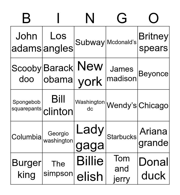 Sila Bingo Card