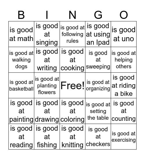 Social BINGO  Bingo Card