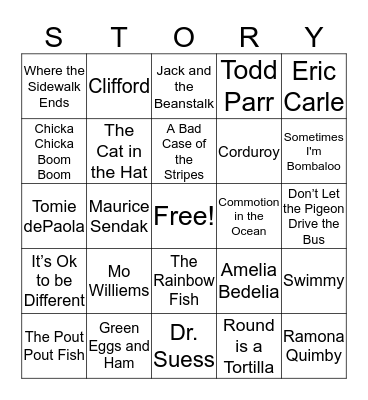 Books and Bingo Card