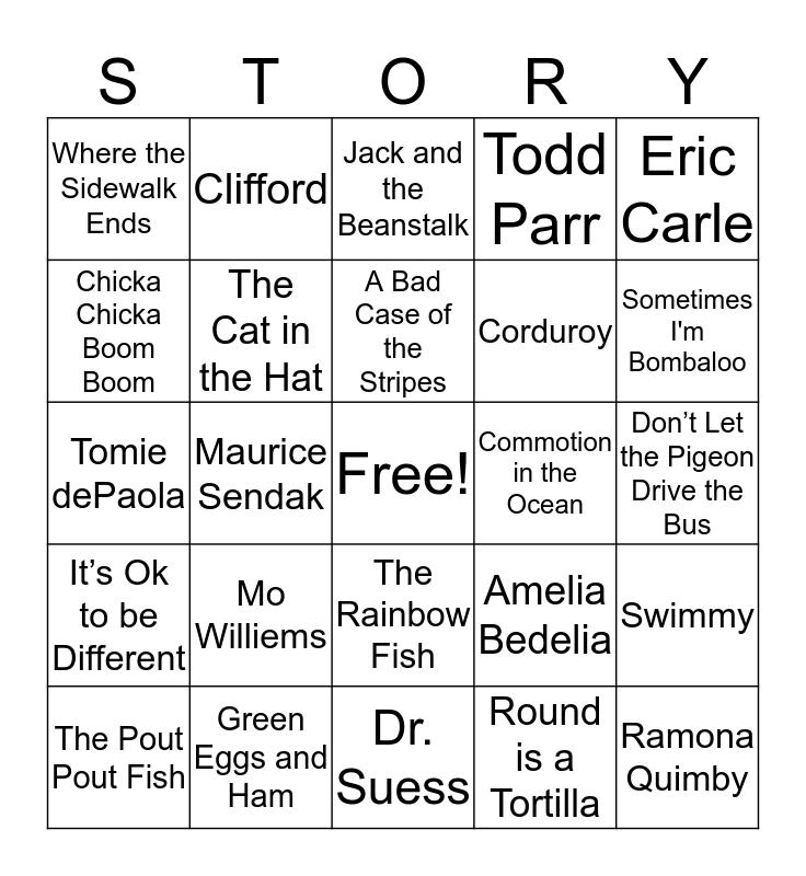 Books and Bingo Card