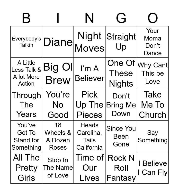 Music Bingo 44-6 Bingo Card