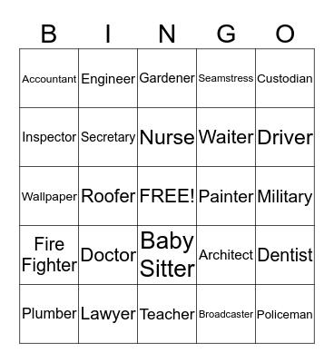 -    Work    - Bingo Card