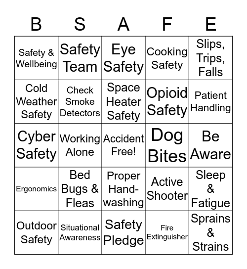 United Disabilities Services Foundation Bingo Card