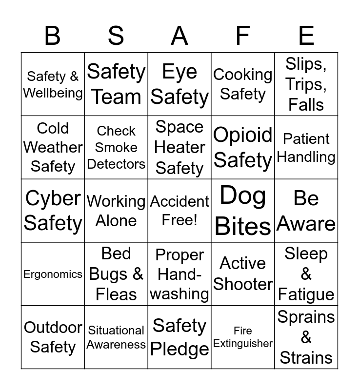 United Disabilities Services Foundation Bingo Card