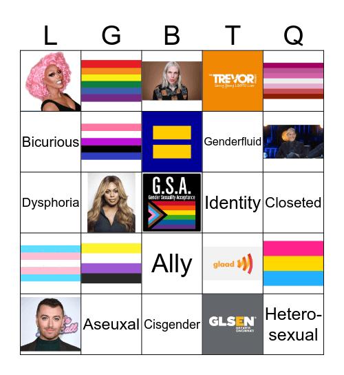 LGBT Flag Bingo Card