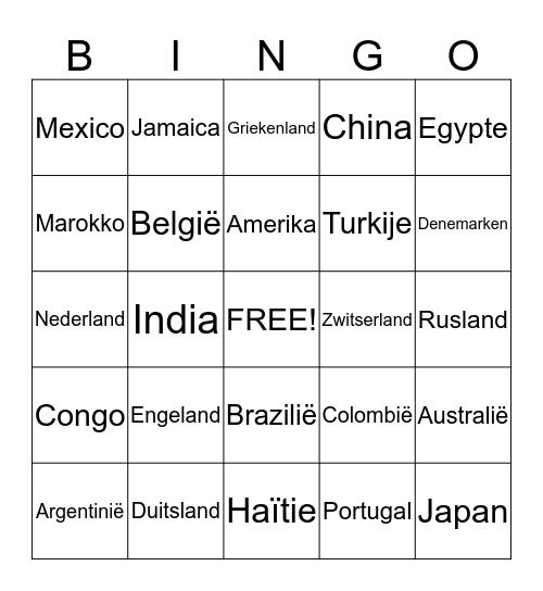 Landen Bingo Card
