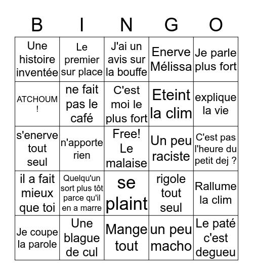 BINGO DU PETIT DEJ ! Bingo Card