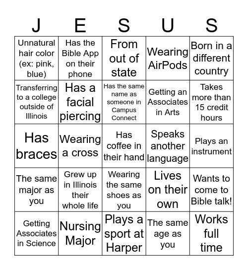 I Got Jesus! Bingo Card